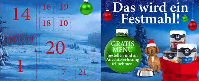 Gewinnspiel: Dinner for Dogs Adventskalender 2019